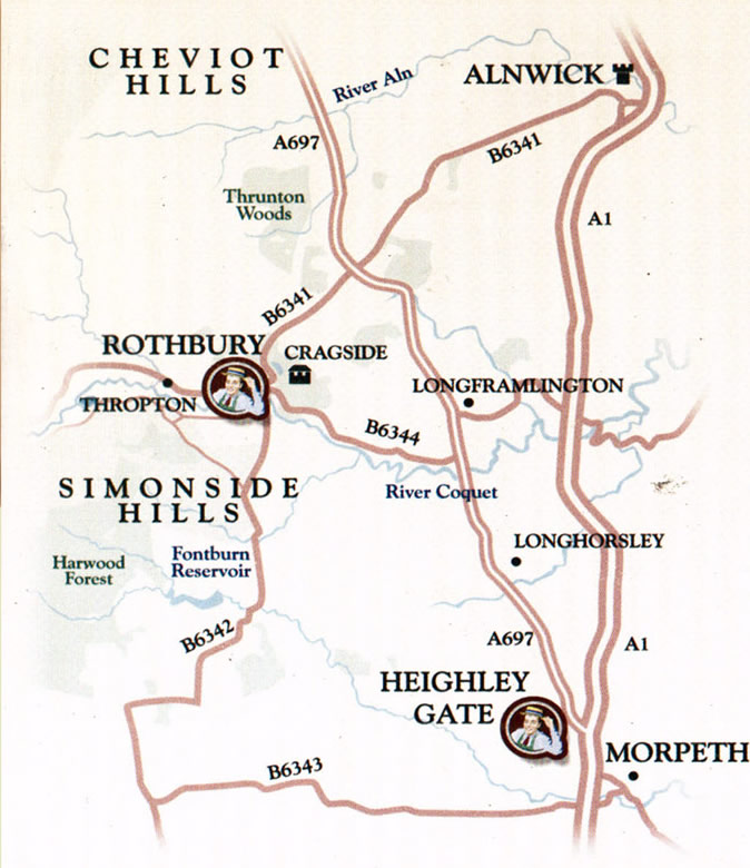 Rothbury Butchers map